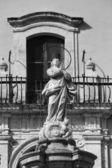 Baroque Immacolata statue — Stock Photo