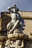 Pohled na barokní herkulova kašna — Stock fotografie