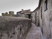 Italy, tuscany, Capalbio, private houses on the external walls of the old town — Stock Photo