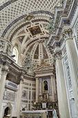 Italien, Sicilien, scicli, st john barock interiör Katedralutsikt — Stockfoto