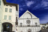 Italy, Umbria, Assisi, neoclassic St. Rufino Cathedral facade — Stock Photo