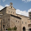 Italy, Anagni, medieval St. Mary Cathedral facade and bell tower — Stock Photo #46032609