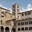 Italy, Anagni, medieval St. Mary Cathedral facade and bell tower — Stock Photo #46032623