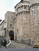 Italy, Lazio, Anagni, medieval St. Mary Cathedral facade — Stock Photo
