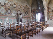 Italy, Anagni, medieval St. Mary Cathedral, original wall paintings — Stock Photo