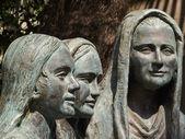 Italien, anagni, medeltida st. maria-katedralen, religiösa statyer brons — Stockfoto