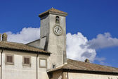 Italy, Lazio, Oriolo Romano, Altieri Palace, clock tower — Stock Photo