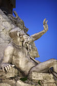 Italy, Lazio, Rome, Navona Square, Four Rivers Fountain, statue — Stock Photo
