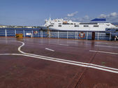 Italy, Sicily, Messina, ferryboats that connect Sicily to the italian peninsula — Stock Photo