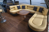 Dinette of yacht — Stock Photo