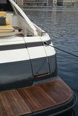 Luxury yacht stern — Stock Photo