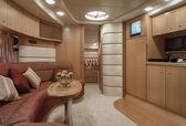 Luxury yacht , dinette — Stock Photo