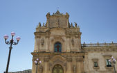 Italy, Sicily, Scicli, the Madonna Del Carmine church baroque facade — Stock Photo