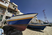 Fishing boats ashore — Stock Photo