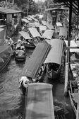 Mercado flutuante — Foto Stock