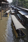 Boats at the Floating Market — Foto Stock