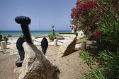 Public fountain on the seafront — Stockfoto