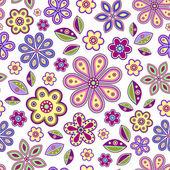Naadloze met kleurrijke bloemen — Stockvector