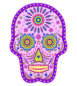 Abstract skull isolated on white background — Stock Vector