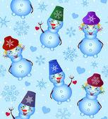 Bonhomme de neige de noël — Vecteur