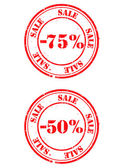 Stamp sale — Stock Vector