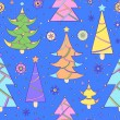Pattern with abstract christmas tree — стоковый вектор #13039148