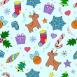Stock Vector: Colorful christmas seamless pattern