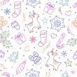 Royalty-Free Stock Vektorový obrázek: Christmas seamless pattern on white background