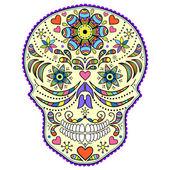 Cráneo colorido abstracto — Vector de stock