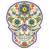 Abstract colorful skull — Stock Vector