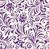 Seamless mönster med abstrakt blommor — Stockvektor