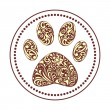 Paw print - Stock Vector