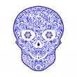 Abstract floral skull — Stock Vector #15342965