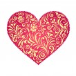 Floral valentine heart — Stock Vector #15343063