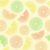 Seamless pattern with abstract oranges — Stock Vector