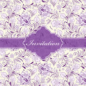 цветочный пригласительный билет — Cтоковый вектор