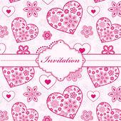 Carta di invito floreale — Vettoriale Stock