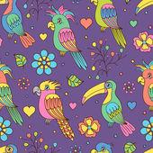 Tropical birds — Vetorial Stock