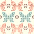 Stok Vektör: Abstract floral butterflies