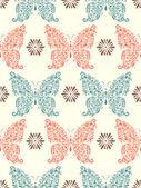 Abstrakt blommig fjärilar — Stockvektor