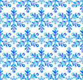 Smidig patterm med abstrakt snöflingor — Stockvektor