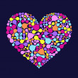 Abstract colorful heart — Stock Vector
