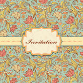 Floral invitation card — Stock Vector