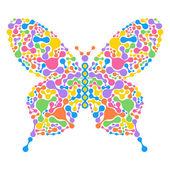 抽象蝴蝶 — 图库矢量图片