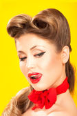 Pin-up girl in american style — Stock Photo