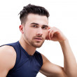 Young handsome muscular man — Stock Photo