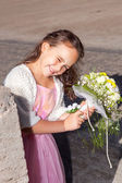 Wedding - Flower Girl — Stock Photo