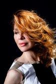Fashion portrait of beautiful female model — Zdjęcie stockowe