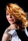 Fashion portrait of beautiful female model — Foto de Stock