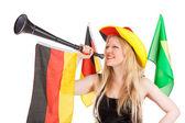 Beautiful german soccer fan — Stock Photo